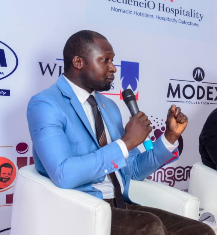 Mr. Joesef Karim speaking during a hospitality and tourism conference in Abuja Nigeria