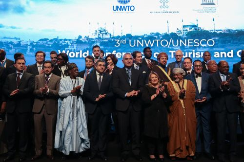 Cross Section of Participants at the UNWTO-UNESCO Conference on Cultural Tourism in Turkey