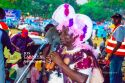 Governor Lalong in traditional gears speaking during Jos Carnival 2019