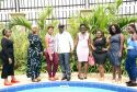 A cross section of the Curvy Ugandan beauties with the Minister of Tourism Mr. Godfrey Kiwanda